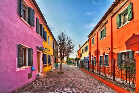 A street in Burano