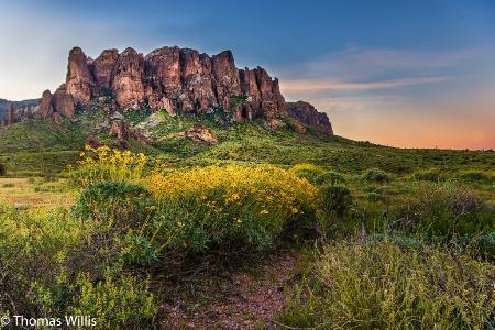 Superstition Mountains, Arizona, USA