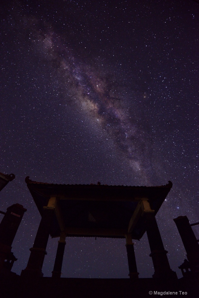 Milky Way above the Pavilion at Bromo, Indonesia - ID: 15362023 © Magdalene Teo