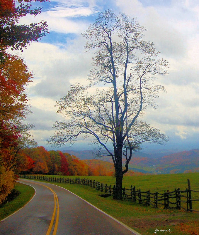 The Blue Ridge Mountains in Virginia