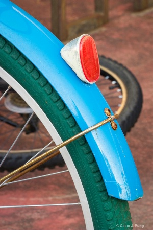 Green Tires on a Blue Bike
