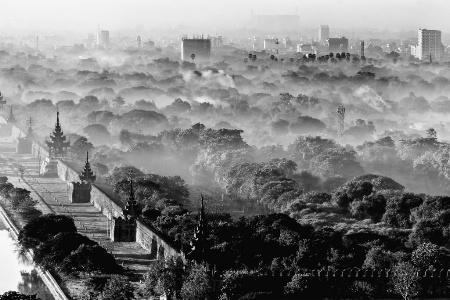 Mandalay moat and city