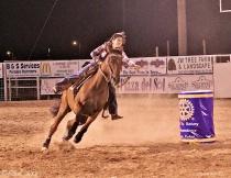 Lady's Barrel Racing