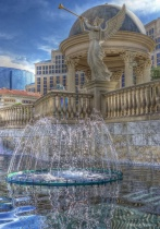 A Fountain On The Vegas Strip