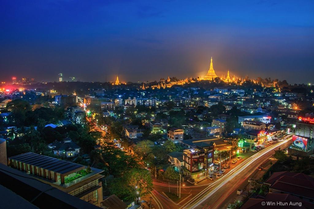 Cityscape of Yangon