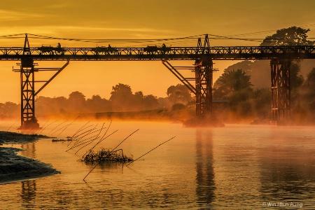 Misty Morning of River