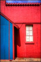 A Red, White and Blue Alley Scene