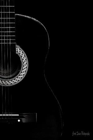 Guitar in Black & White 🎶