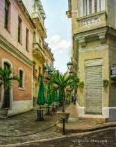 Alfresco restaurant before people arrive; Havana