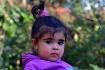 Little girl in pu...