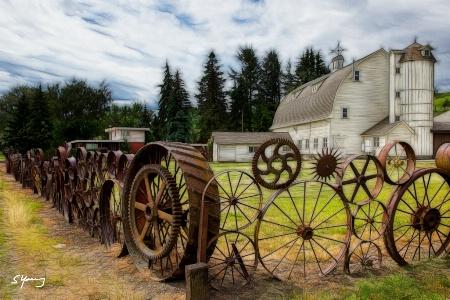 Dahmen Barn; Uniontown, WA