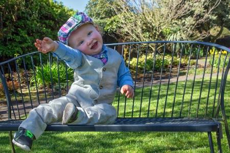 Ollie in the Garden