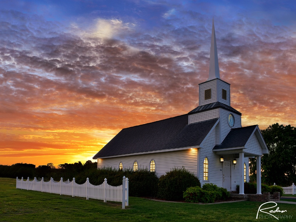 Sunset at Four Winds Chapel
