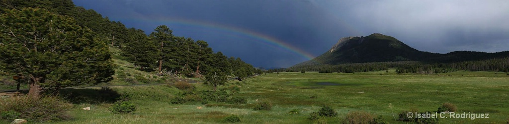 Sheep Lakes Rainbow Panorama