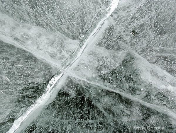 Shelburne Pond Ice I - ID: 15433248 © Krista Cheney