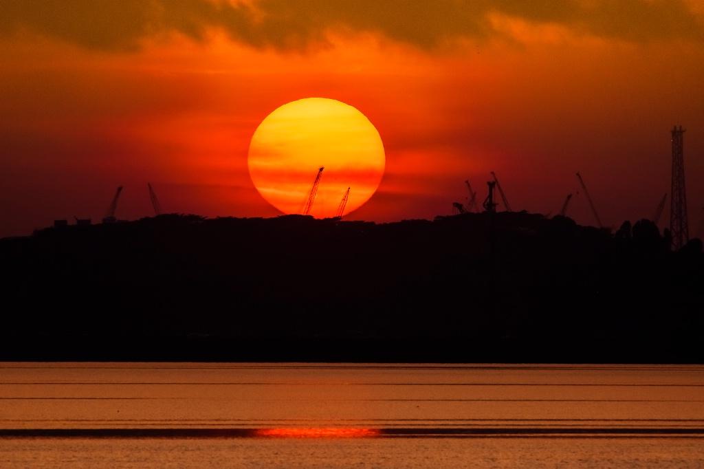 Sunrise at  border
