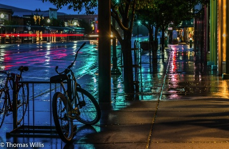 Gunnison, CO, Rainy Night