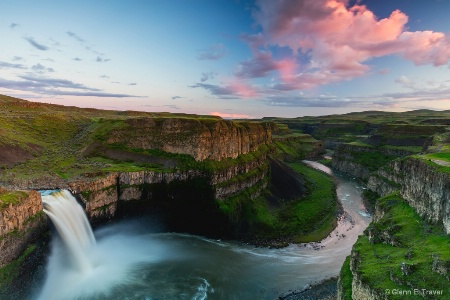 The Palouse Falls and A Passing Cloud
