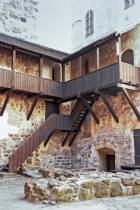 Wooden Stairs At The Turku Castle