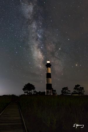 Bodie Island Light and Milky Way