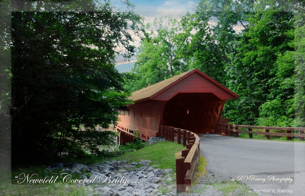 Newfield Covered Bridge the entrance