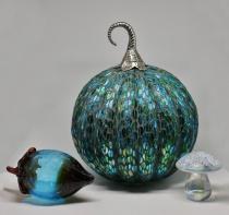 Glass Pumpkin, Acorn and Mushroom