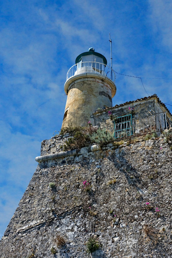 Lighthouse Atop Old Fortress in Corfu, Greece