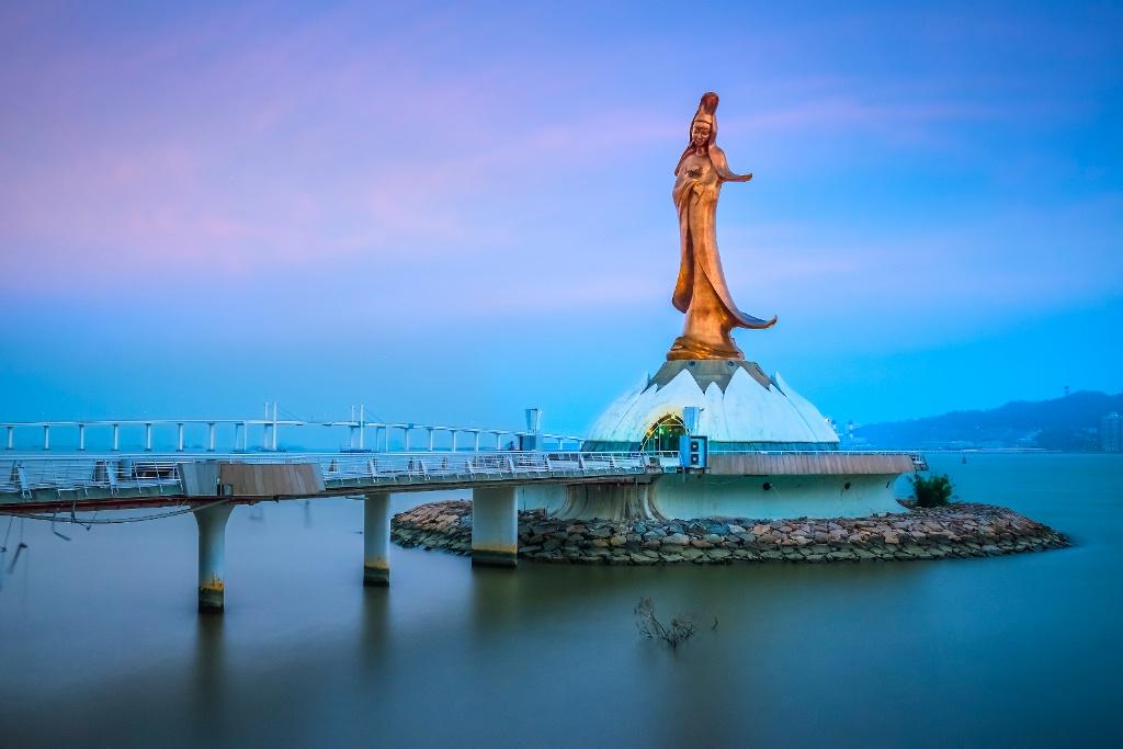 Statue at Macau Harbour