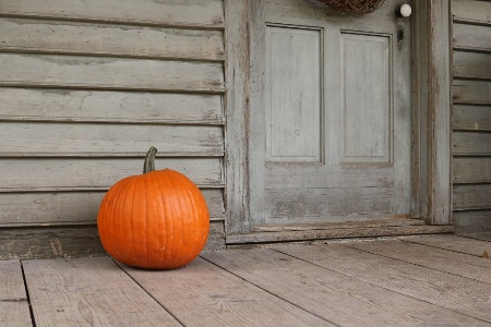 Pumpkin by the Door