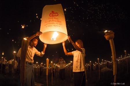 Myanmar fire festival
