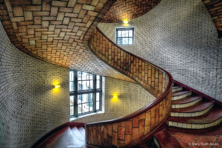Spiral Staircase at Baker Hall