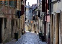 Cobblestone street in Italy