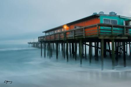 OBX Pier on a Foggy Morning; Nags Head, NC