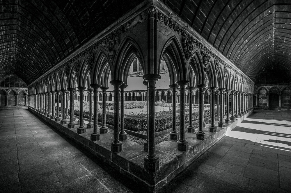 The Cloister of Mont Saint Michel
