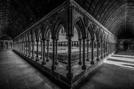 The Cloister of Mont Saint Michel