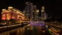 Panoramic photo of Singapore skyline