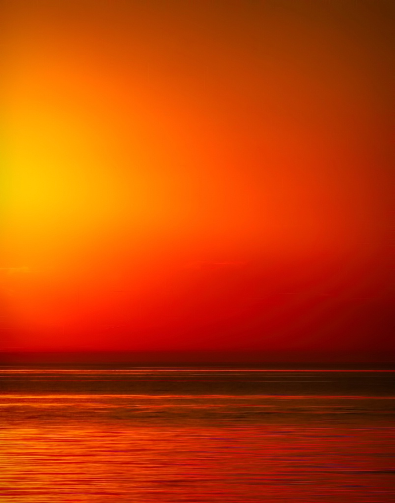 Sunset Beach Abstract