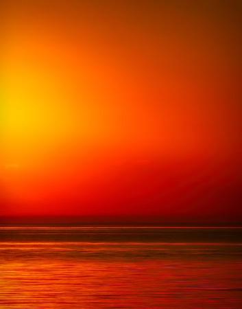 Sunset Beach Abstract