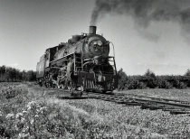 Steam Locomotive Duluth to Two Harbor BW