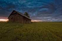 Old Barn House Under The Dramatic Summer Skie