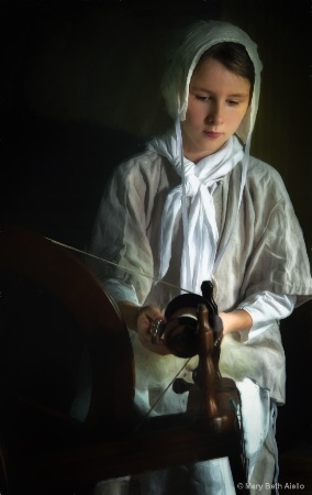 Girl at the Spinning Wheel