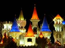 Castle lights, Las Vegas