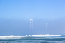 Mackinac Bridge and Fog