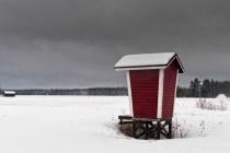 Milk Shelter On The Snowy Fields