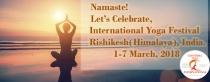 International Yoga Festival 2018 Rishikesh, India.