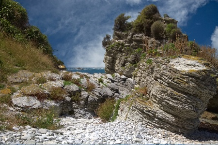 Rocks at South Bay, Kaikoura, New Zealand