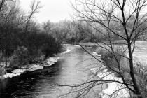 Frost on the Ottertail River