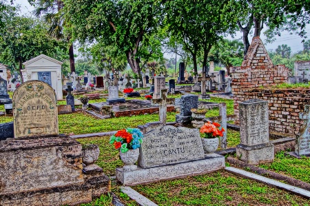 The Old Cemetery at Brownsville Texas