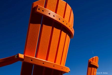 Orange in the Deep Blue