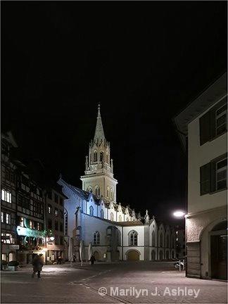 St. Gallen, Switzerland, Cathedral at Night - ID: 15516316 © Marilyn J. Ashley